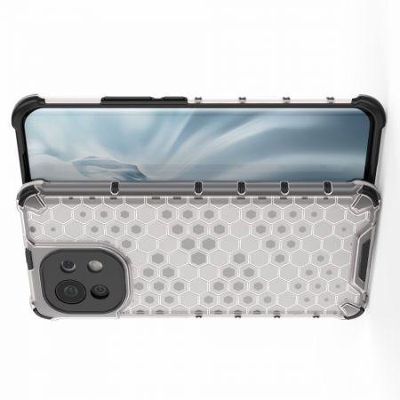 Honeycomb Противоударный Защитный Силиконовый Чехол для Телефона TPU для Xiaomi Mi 11 Серый