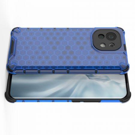 Honeycomb Противоударный Защитный Силиконовый Чехол для Телефона TPU для Xiaomi Mi 11 Синий