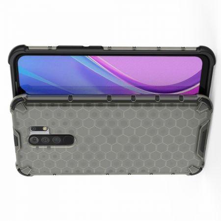 Honeycomb Противоударный Защитный Силиконовый Чехол для Телефона TPU для Xiaomi Redmi 9 Серый