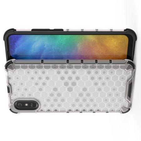 Honeycomb Противоударный Защитный Силиконовый Чехол для Телефона TPU для Xiaomi Redmi 9A Белый
