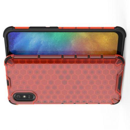 Honeycomb Противоударный Защитный Силиконовый Чехол для Телефона TPU для Xiaomi Redmi 9A Красный
