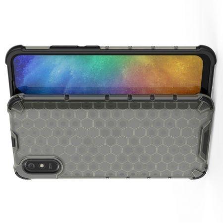 Honeycomb Противоударный Защитный Силиконовый Чехол для Телефона TPU для Xiaomi Redmi 9A Серый
