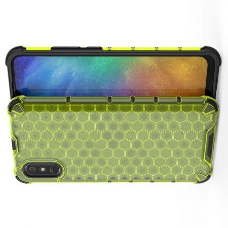 Honeycomb Противоударный Защитный Силиконовый Чехол для Телефона TPU для Xiaomi Redmi 9A Зеленый
