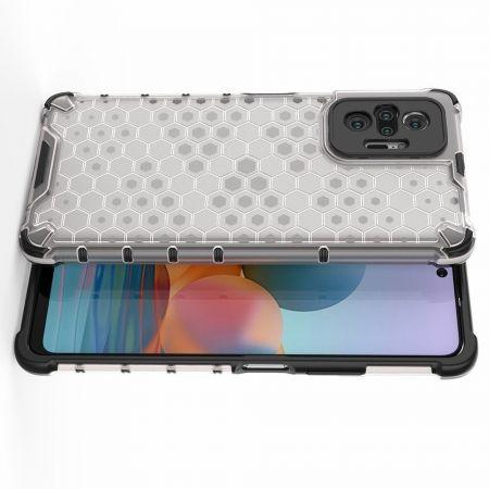 Honeycomb Противоударный Защитный Силиконовый Чехол для Телефона TPU для Xiaomi Redmi Note 10 Pro Серый