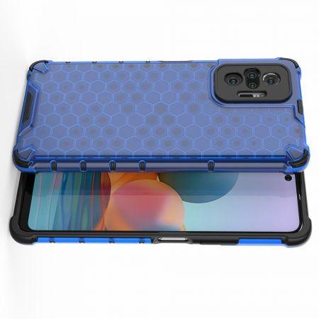 Honeycomb Противоударный Защитный Силиконовый Чехол для Телефона TPU для Xiaomi Redmi Note 10 Pro Синий