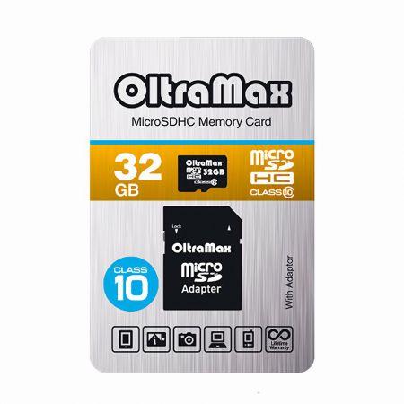 Карта памяти для телефона microSD OltraMax 32GB