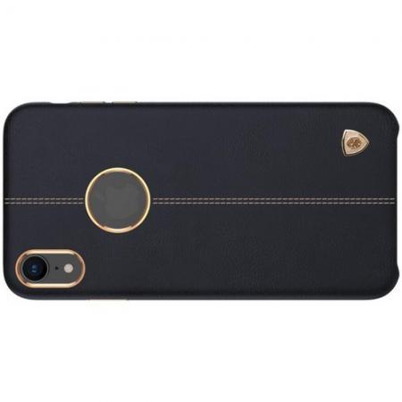 Кейс накладка NILLKIN Englon искусственно кожаный чехол для iPhone XR Черный