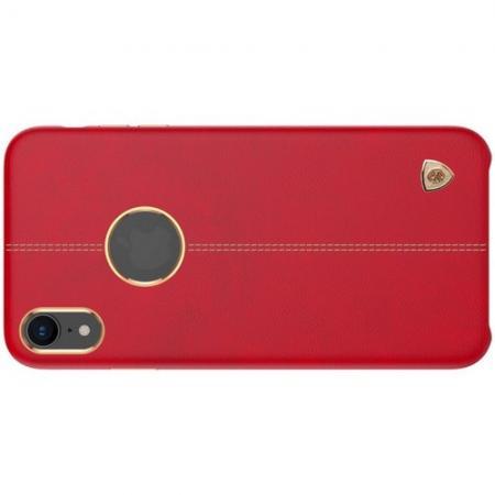 Кейс накладка NILLKIN Englon искусственно кожаный чехол для iPhone XR Красный