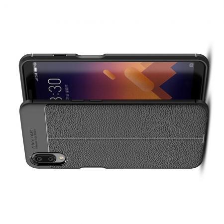 Litchi Grain Leather Силиконовый Накладка Чехол для Meizu E3 с Текстурой Кожа Черный