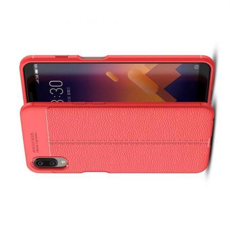 Litchi Grain Leather Силиконовый Накладка Чехол для Meizu E3 с Текстурой Кожа Красный