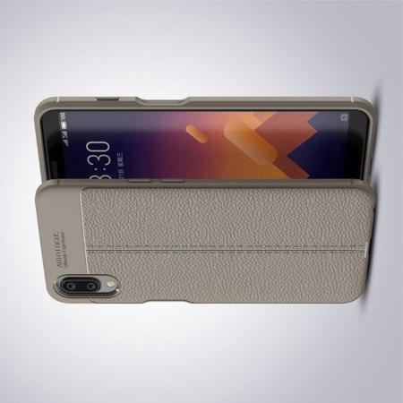 Litchi Grain Leather Силиконовый Накладка Чехол для Meizu E3 с Текстурой Кожа Серый