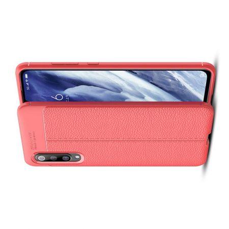 Litchi Grain Leather Силиконовый Накладка Чехол для Xiaomi Mi 9 Pro с Текстурой Кожа Красный