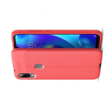 Litchi Grain Leather Силиконовый Накладка Чехол для Xiaomi Mi Play с Текстурой Кожа Коралловый