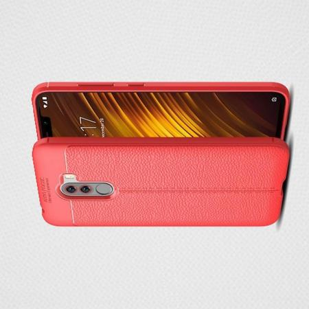 Litchi Grain Leather Силиконовый Накладка Чехол для Xiaomi Redmi Note 8 Pro с Текстурой Кожа Коралловый