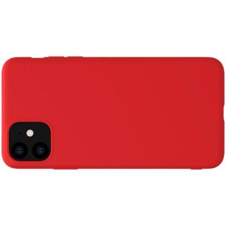 Мягкий матовый силиконовый бампер NILLKIN Flex чехол для iPhone 11 Красный
