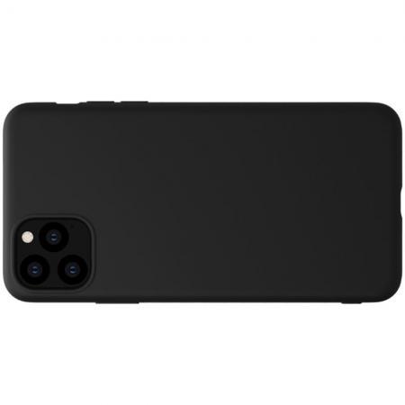 Мягкий матовый силиконовый бампер NILLKIN Flex чехол для iPhone 11 Pro Max Черный