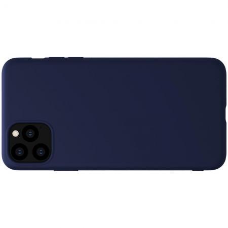 Мягкий матовый силиконовый бампер NILLKIN Flex чехол для iPhone 11 Pro Max Синий