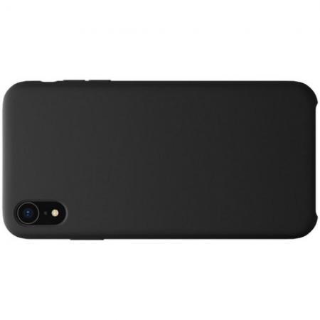 Мягкий матовый силиконовый бампер NILLKIN Flex чехол для iPhone XR Черный