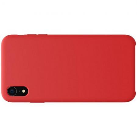 Мягкий матовый силиконовый бампер NILLKIN Flex чехол для iPhone XR Красный