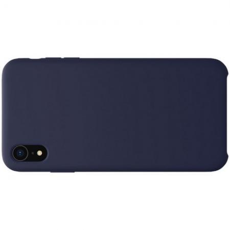 Мягкий матовый силиконовый бампер NILLKIN Flex чехол для iPhone XR Синий