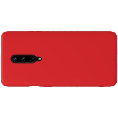 Мягкий матовый силиконовый бампер NILLKIN Flex чехол для OnePlus 7 Pro Красный