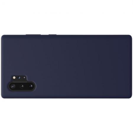 Мягкий матовый силиконовый бампер NILLKIN Flex чехол для Samsung Galaxy Note 10 Plus Синий