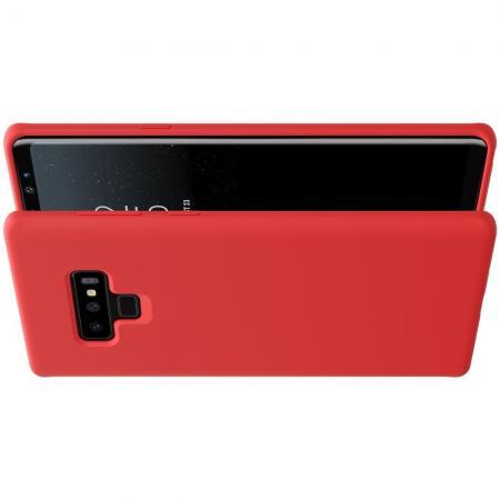 Мягкий матовый силиконовый бампер NILLKIN Flex чехол для Samsung Galaxy Note 9 Красный