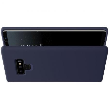 Мягкий матовый силиконовый бампер NILLKIN Flex чехол для Samsung Galaxy Note 9 Синий