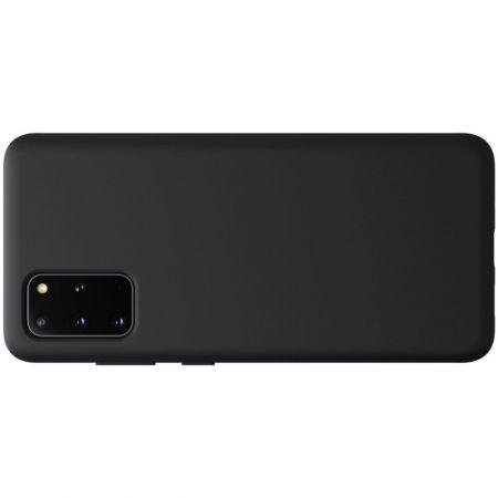 Мягкий матовый силиконовый бампер NILLKIN Flex чехол для Samsung Galaxy S20 Plus Черный