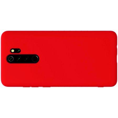 Мягкий матовый силиконовый бампер NILLKIN Flex чехол для Xiaomi Redmi Note 8 Pro Красный