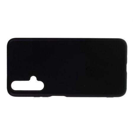 Мягкий силиконовый чехол для Huawei Honor 20 с подкладкой из микрофибры Черный