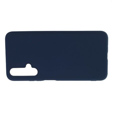 Мягкий силиконовый чехол для Huawei Honor 20 с подкладкой из микрофибры Синий