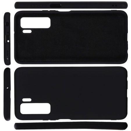 Мягкий силиконовый чехол для Huawei Honor 30S с подкладкой из микрофибры Черный