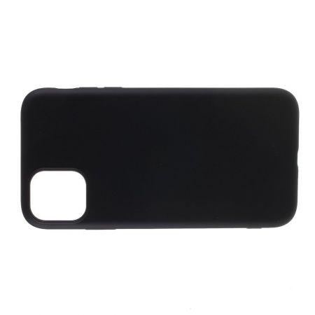 Мягкий силиконовый чехол для iPhone 11 Pro с подкладкой из микрофибры Черный
