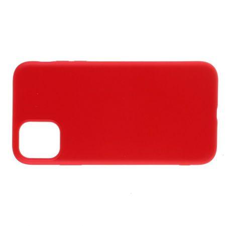 Мягкий силиконовый чехол для iPhone 11 Pro с подкладкой из микрофибры Красный