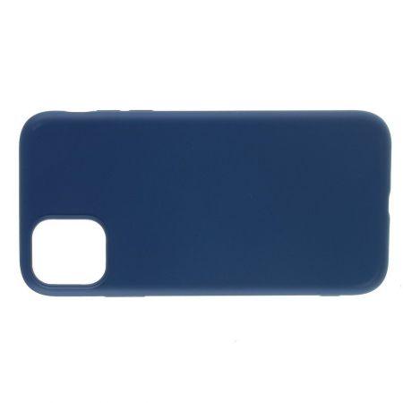 Мягкий силиконовый чехол для iPhone 11 Pro с подкладкой из микрофибры Синий