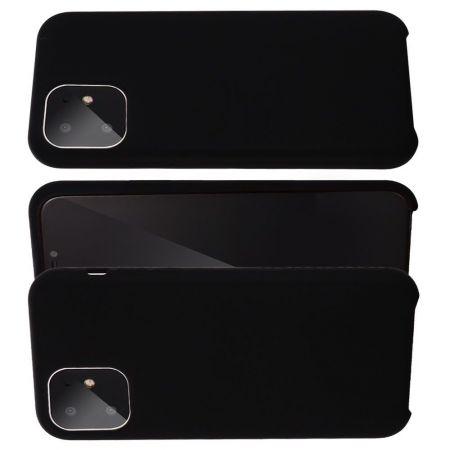 Мягкий силиконовый чехол для iPhone 11 с подкладкой из микрофибры Черный