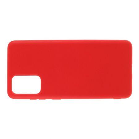 Мягкий силиконовый чехол для Samsung Galaxy S20 Plus с подкладкой из микрофибры Красный
