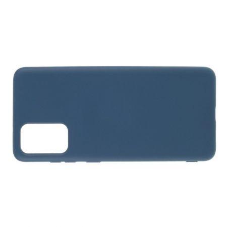 Мягкий силиконовый чехол для Samsung Galaxy S20 с подкладкой из микрофибры Синий