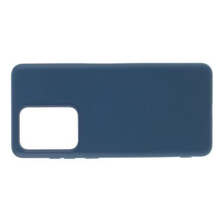 Мягкий силиконовый чехол для Samsung Galaxy S20 Ultra с подкладкой из микрофибры Синий