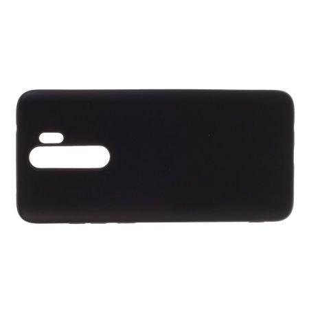 Мягкий силиконовый чехол для Xiaomi Redmi Note 8 Pro с подкладкой из микрофибры Черный
