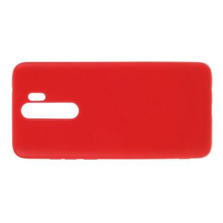 Мягкий силиконовый чехол для Xiaomi Redmi Note 8 Pro с подкладкой из микрофибры Красный