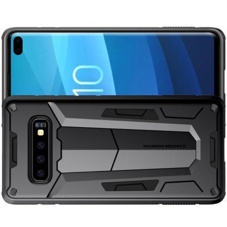 Nillkin Defender Бронированный Противоударный Чехол Бампер для Samsung Galaxy S10 Plus Черный
