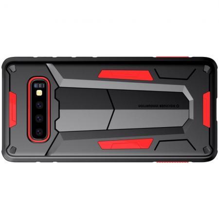 Nillkin Defender Бронированный Противоударный Чехол Бампер для Samsung Galaxy S10 Plus Красный
