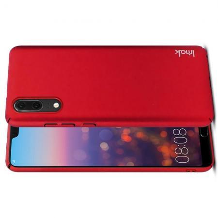 Пластиковый матовый кейс футляр IMAK Jazz чехол для Huawei P20 Красный + Защитная пленка
