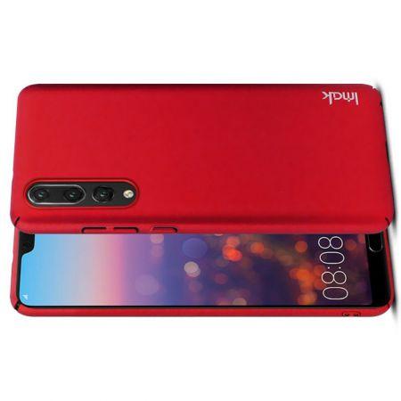 Пластиковый матовый кейс футляр IMAK Jazz чехол для Huawei P20 Pro Красный + Защитная пленка