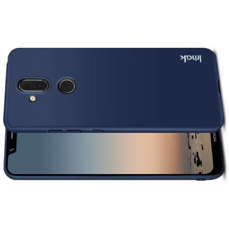 Пластиковый матовый кейс футляр IMAK Jazz чехол для Nokia 8.1 Синий + Защитная пленка