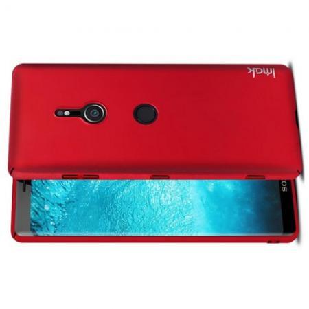 Пластиковый матовый кейс футляр IMAK Jazz чехол для Sony Xperia XZ3 Красный + Защитная пленка