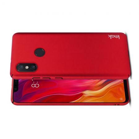 Пластиковый матовый кейс футляр IMAK Jazz чехол для Xiaomi Mi 8 SE Красный + Защитная пленка
