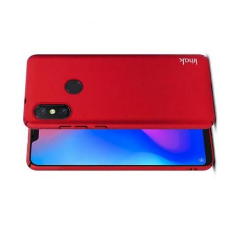 Пластиковый матовый кейс футляр IMAK Jazz чехол для Xiaomi Mi A2 Lite / Redmi 6 Pro Красный + Защитная пленка